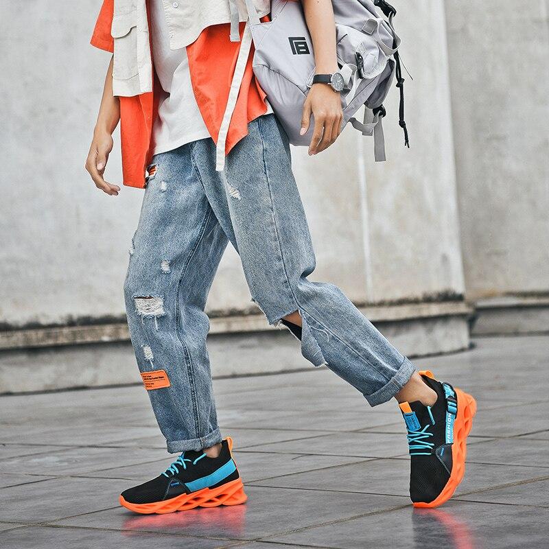 Damyuan scarpe da uomo da donna scarpe da uomo gialle con suola a lama scarpe Casual Sneakers da uomo verde chiaro per corsa scarpe sportive nere uomo arancione