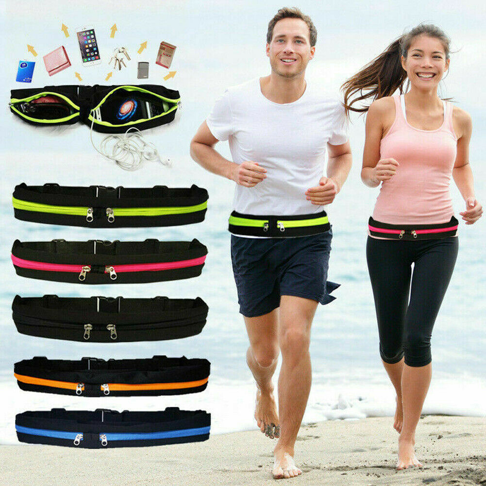 Sports Running Waterproof Waist Bag Fanny Pack Outdoor Hip Bum Bag Fitness Running Money Belt