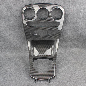 Real Car Carbon Fiber Center Console Cover Panel for Mercedes Benz C GLC Class W205 X253 C180L C200L GLC260 GLC Modified Parts