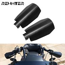Motorcycle Matte Black Shade Handguard 2PCS Steel Hand Guards Protector Wind Falling Protection For Harley Dyna Softail Touring