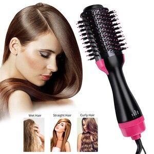 Image 1 - 4 w 1 One Step elektryczna suszarka do włosów Styler Ionic Curler prostownica do włosów wszystkie style jonów ujemnych odżywiają gładkie włosy