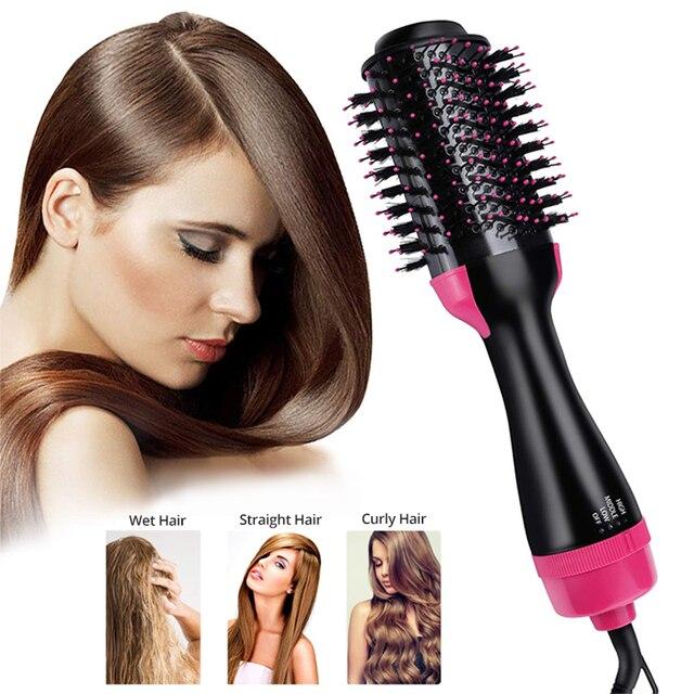 4 w 1 One Step elektryczna suszarka do włosów Styler Ionic Curler prostownica do włosów wszystkie style jonów ujemnych odżywiają gładkie włosy