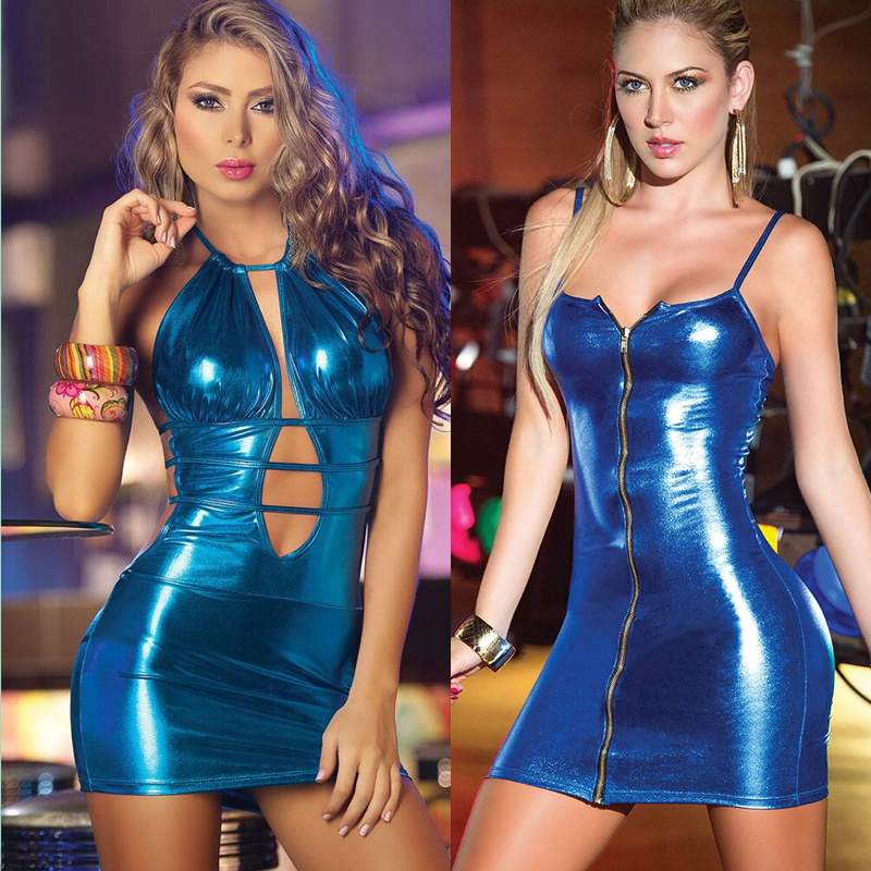 Women Sexy Costumes Latex Catsuit Hot Pole Dance Clubwear Faux Leather Bandage <font><b>Baby</b></font> <font><b>Dolls</b></font> Erotic Dress Lenceria <font><b>Sexi</b></font> Para <font><b>Mujer</b></font> image