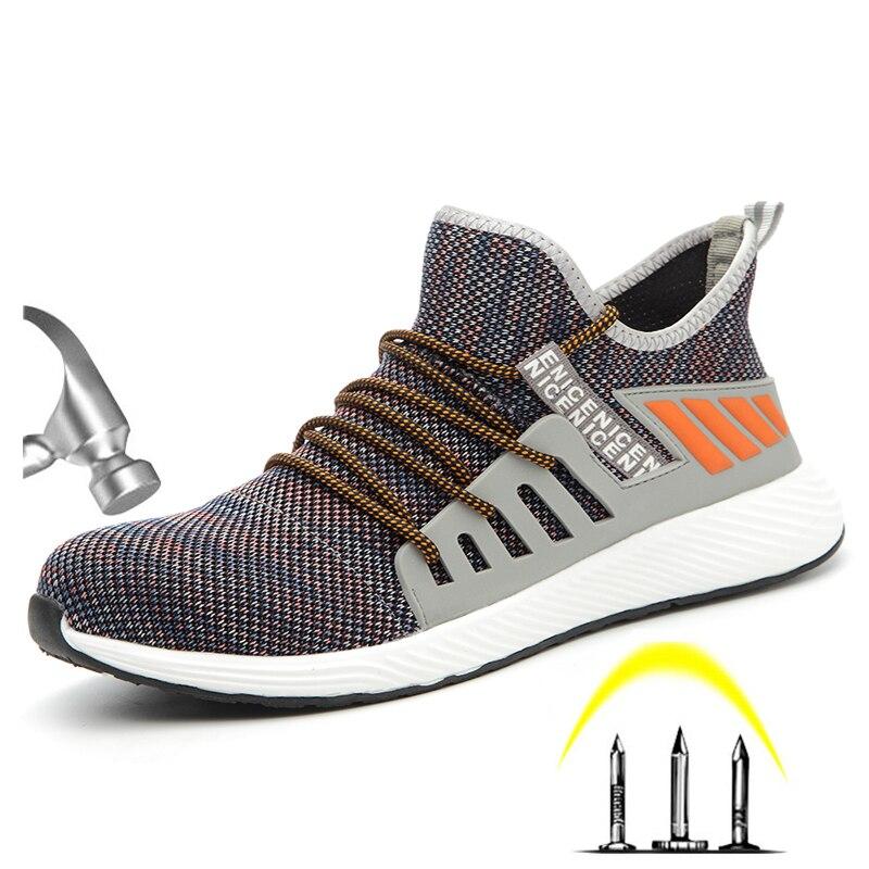 US $17.5 63% СКИДКА|CE одобренный стальной носок мужские уличные противоскользящие, из дышащей ткани защитная Рабочая обувь ботинки мужская прокалывающая защитная обувь|Защитная обувь| |  - AliExpress