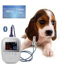 Bluetooth IOS Android Ручной ушной Пульсоксиметр для ветеринарных кошек собак SPO2 PR PI монитор данных кислорода в крови Share Oximetro