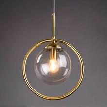 Современный светодиодный подвесной светильник из стекла e14