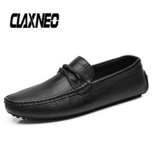 CLAXNEO Man Moccasins Genuine Leather Summer Male Boat Shoes Casual Loafers Mens Shoe Breathable