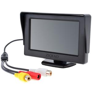 Image 3 - Ziqiao 4.3 Inch Tft Lcd Parking Monitor Met Hd Omkeren Achteruitrijcamera Optioneel P01