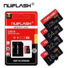 Tarjeta de memoria micro SD de alta velocidad, 4GB, 8GB, 16GB, 32GB, 64GB, 128GB, mini tarjeta TF, clase 10, con adaptador gratuito