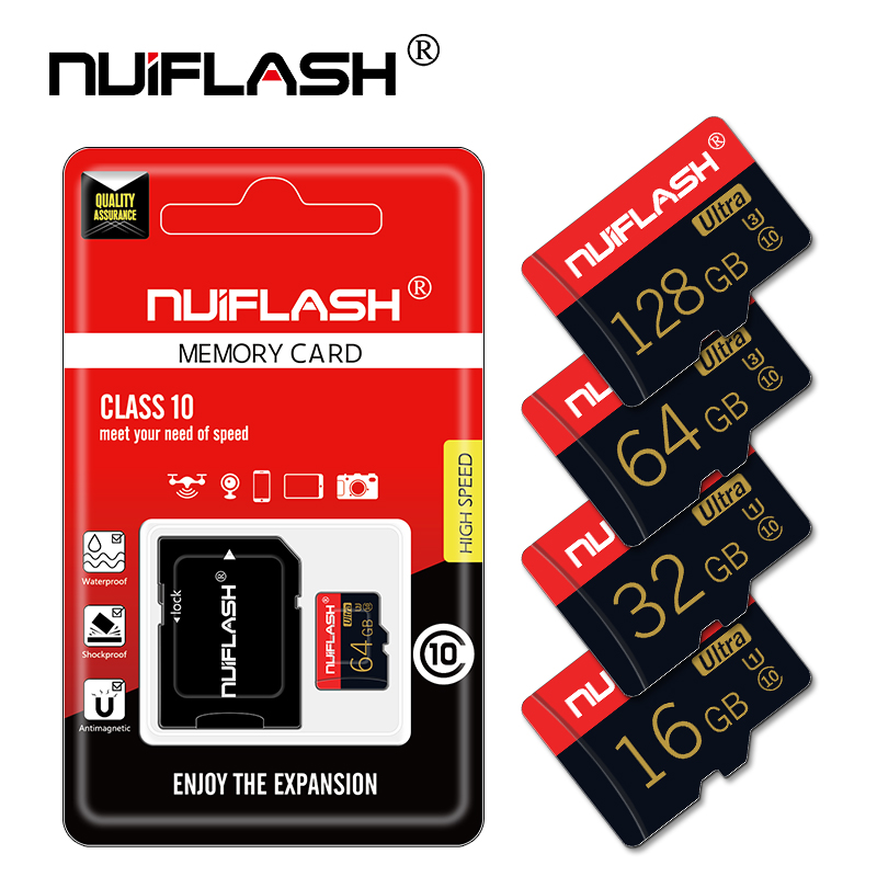 Tarjeta de memoria de alta velocidad Clase 10, 8GB, 16GB, 32GB, microsd de 64GB, 128GB, microsd de 32gb, mini tarjeta TF de 4GB con adaptador gratis