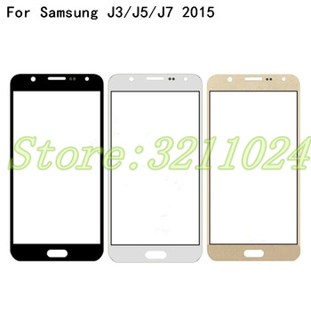 For Samsung Galaxy J3 J5 J7 2015 J300 J500 J700 Front Out LCD Glass Lens Cover (not LCD and touch screen) image