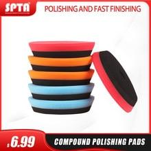 Spta conjunto de almofadas de polimento, kit de almofadas de polimento compostas para da/ro, polidor duplo de carro de ação sander-selecione cor