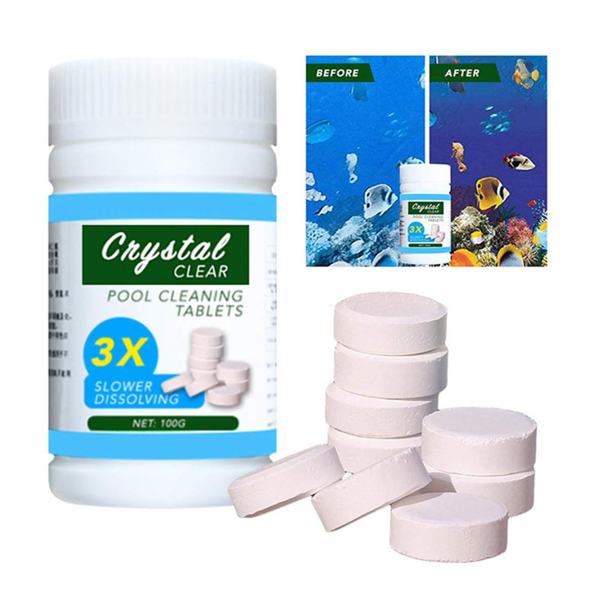 Pool Cleaning Tablet