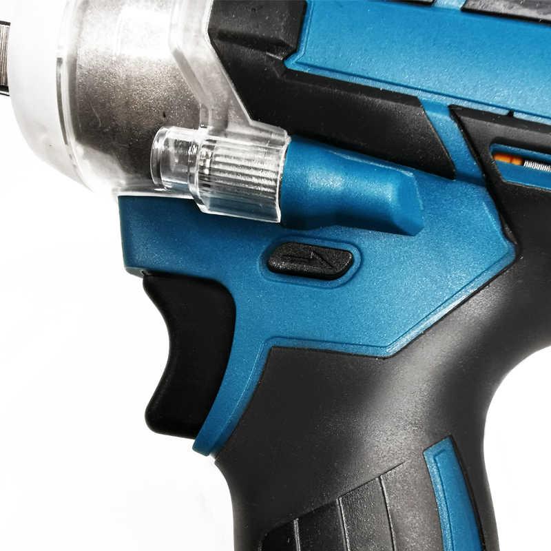 PRACMANU 18V Brushless ประแจผลกระทบชาร์จ 1/2 ซ็อกเก็ตประแจเครื่องมือไร้สายไม่มีแบตเตอรี่และอุปกรณ์เสริม