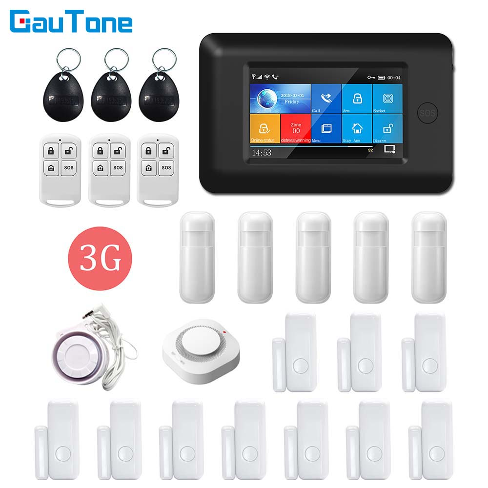 DHL Free Shipping WIFI 3G GPRS Wireless APP Remote Control Home&Office&Building&Factory Security Alarm System For Android IOS