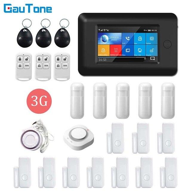 GauTone WIFI 3G GPRS אלחוטי APP שלט משרד ולבית בניין & מפעל אבטחת אזעקת מערכת עבור אנדרואיד iOS