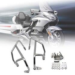 Or aile 1800 pare-chocs moteur garde autoroute Crash Bar réservoir de carburant protecteur s'adapte pour HONDA or Wing GL1800 F6C 2018 2019 2020