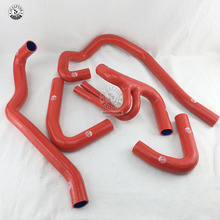 Mangueira de radiador de silicone para peugeot 106 gt i/citroen saxo vis 16v (5 peças) vermelho/azul/preto
