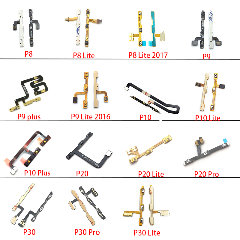 New Power On Off Volume Side Button Key Flex Cable For Huawei P8 P9 P10 Plus P20 Lite P30 Pro 2017 2016 Replacement Parts
