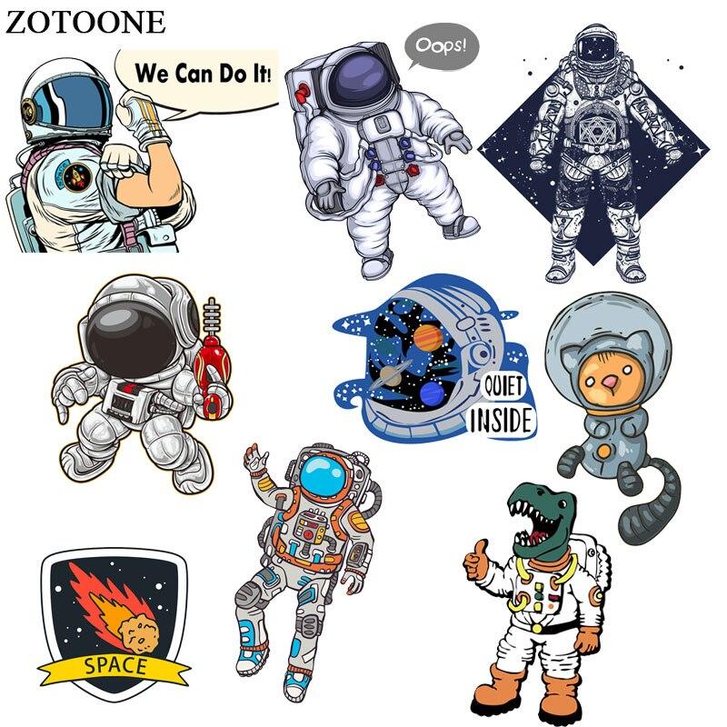 14.76руб. 40% СКИДКА|ZOTOONE нашивка с космонавтом космическая планета наклейки железо на переноске для одежды аксессуары для футболки аппликация Сделай Сам теплопередача G|Заплатки| |  - AliExpress