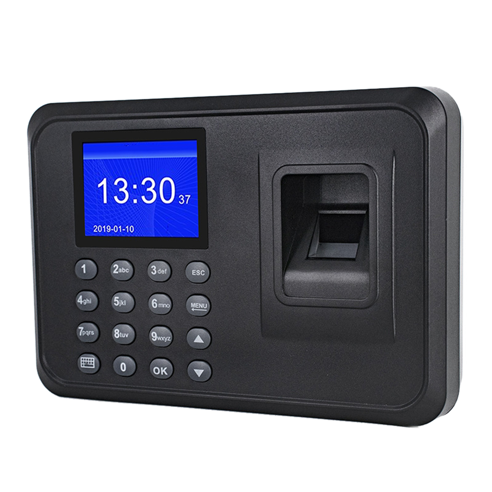 Multi-language Fingerprint Time Attendance System Clock Recorder Employee Recognition Recording Device Electronic Machine
