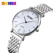 Часы наручные skmei женские кварцевые простые Роскошные с браслетом