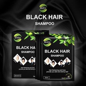 1/5pcs Black Hair Dye Shampoo Instant Black Hair Make Grey White Hair Darkening Shiny Makeup Black Hair Immediately Hair Care