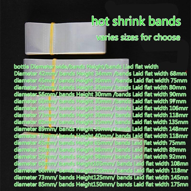 2019 New 400pcs/Lot Pvc Transparant Heat Shrink Bands For Glass Bottles Caps, Jar  Mouth Sealing Film Tube Bands Diameter*hight