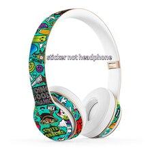 לbeats Solo 2 3 אלחוטי אוזניות מדבקת מגן גלישת כיסוי ויניל מדבקות עור עבור Beats Solo 2 3 Bluetooth אוזניות