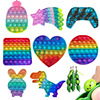 Fidget Toys Pack Its Square Antistress Push Bubble Dinosaur Pops For Hands Popis Squishy Pops Reliver Stress For Adults Random
