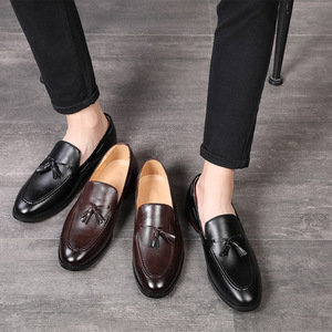 Image 2 - Áo Công Sở Giày Casual Nam Chính Thức Cổ Điển Tua Rua Trơn Trượt Trên Cho Nữ Giày Người Đầm Công Sở Đảng Giày Zapatos De hombre