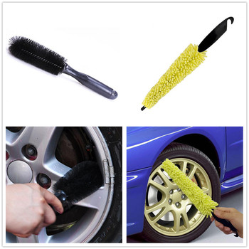 Auto Car Brush Clean Wheel Tire Wash Sponges for Subaru VIZIV-2 Exiga Tribeca G4e B9 R1 Pleo Baja B5-TPH BRZ VIZIV-7 Levorg image