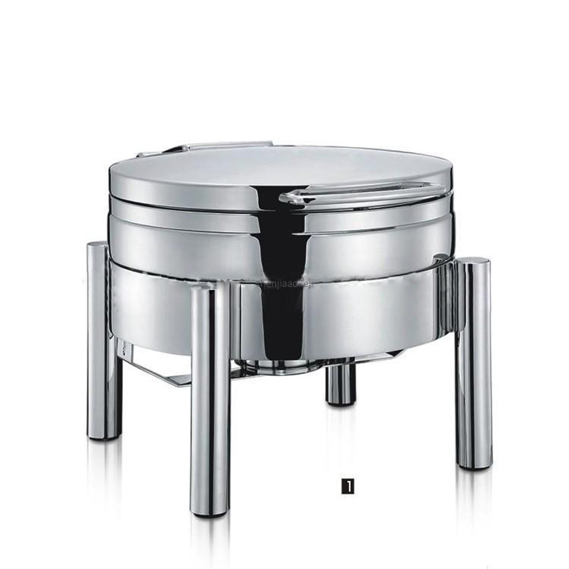 Commercial Buffet Stove Restaurant Food Heating Holding Stove Round-shape Hydraulic Dining Furnace Stainless Steel/glass Lid