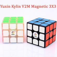 Yuxin Kylin V2 M magnetyczny 3X3X3 magiczna kostka 3 #215 3 puzzle prędkość kostka Kylin V2M 3x3x3 cubo magico tanie tanio LIANGCuber Z tworzywa sztucznego MAGNETIC 5-7 lat 8-11 lat 12-15 lat Dorośli 6 lat 8 lat 3 lat Puzzle cube