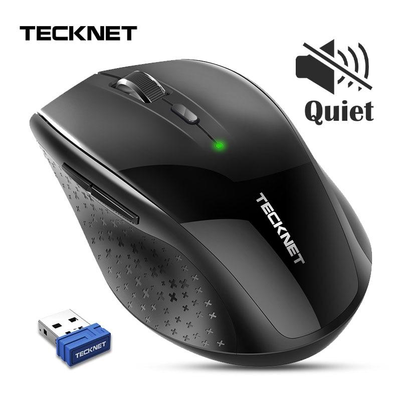 TeckNet Silent Mouse 2.4GHz Wireless Mouse USB Ergonomic Optical Computer Mice 3000 DPI Cordless Noiseless Mouse For Laptop PC