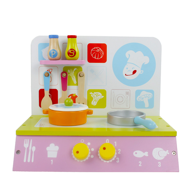Baby wooden kitchen toy set kid girl children cooking play kitchen set educational wooden kids toys for children play house gift