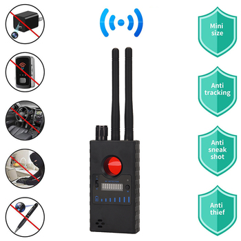 RF Detector Wireless Bug Detector Signal for Hidden Camera Laser Lens GSM Listening Device Finder Radar Radio Scanner new rf signal bug detector laser lens gsm device finder home security safety