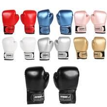 Guantes de lucha de entrenamiento de boxeo para niños, 2 uds., de piel sintética, transpirables, Muay Thai, guantes profesionales de boxeo, Kickboxing y kárate