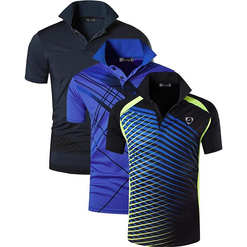 Image 3 - Jeansian 3 Pack Mens Sport Tee Polo Shirts POLOS Poloshirts Golf  Tennis Badminton Dry Fit Short Sleeve LSL195 PackGPolo   -