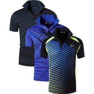 Image 3 - Jeansian Polo de Sport manches courtes pour homme, lot de 3 pièces, pour Golf, Tennis, Badminton, adapté sec, LSL195/PackG