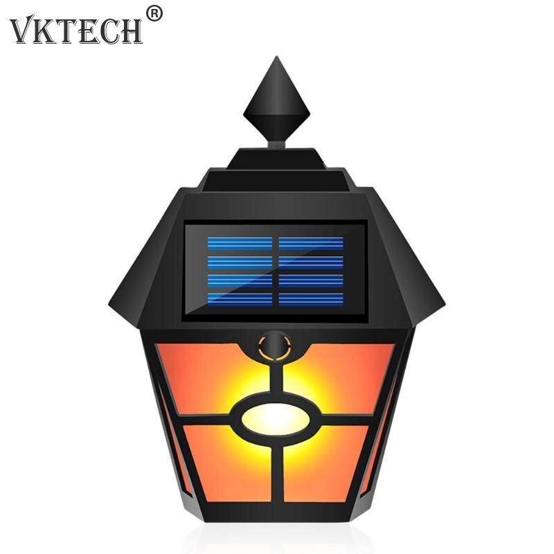 Wasserdicht Retro Hex Flamme Lampe Energy Saving Solar Wand Licht LED Outdoor Hof Zaun Landschaft Garten Beleuchtung