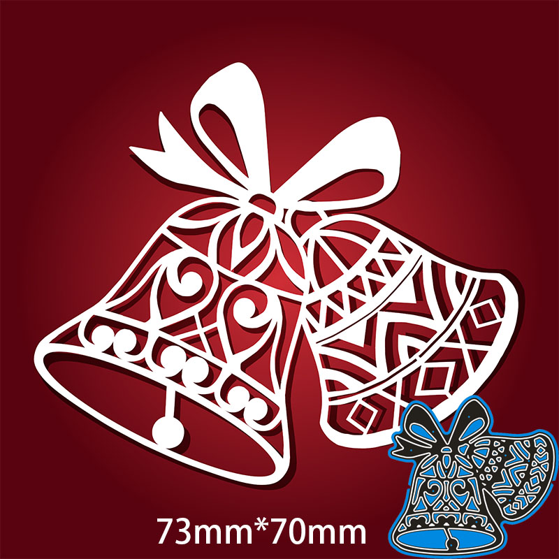73*70mm Christmas Lace Bell New Metal Cutting Dies For Card DIY Scrapbooking Stencil Paper Craft Album Template Dies