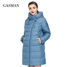 Coat Women Parka Down-Jacket Puffer GASMAN Plus-Size Winter Long Hooded Warm Thick Cotton