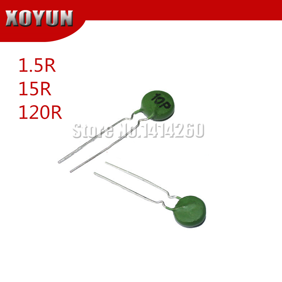 10pcs PTC Thermistor 10P 10MM 1.5R 15R 120R