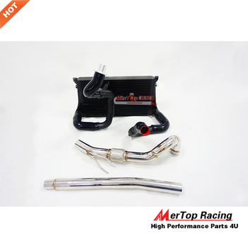 MTP RACING Competition Intercooler Kits +Downpipe For A3 S3 TT TTS 8S MK7 R 1.8T  2.0T TSI Seat Leon 2014+