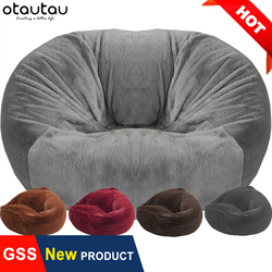 OTAUTAU şişme koltuk dolgu ile büyük XXL puf koltuk kanepe yatak dolması dev Beanbag kanepe yumuşak puf minder Relax salon mobilyası