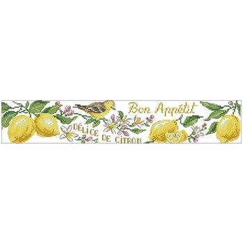Toalla bordado lemon patrones contó Cruz puntada 11CT 14CT 18CT DIY chino Kits punto de cruz bordado juegos de costura