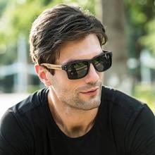 SKADINO Zebra Wood Men Sunglasses Polarized Wooden Sun Glasses for Women Blue Gr