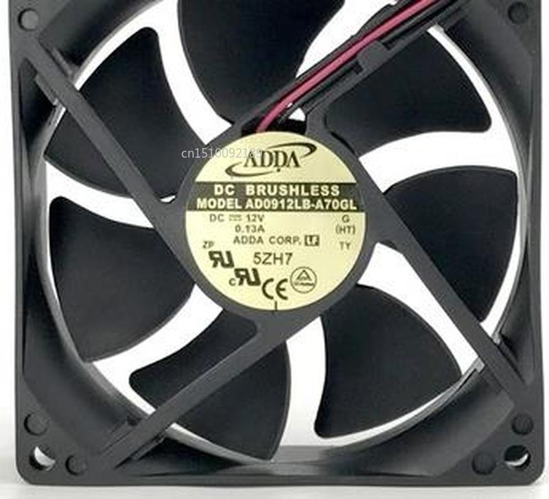 For 12V 0.13A 9CM AD0912LB-A70GL 9025 Dual Ball Chassis Cooling Fan Free Shipping