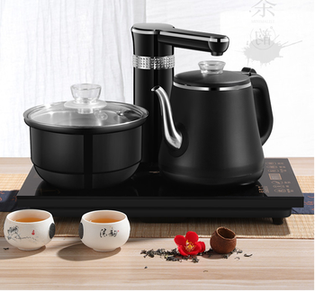 Electric Kettles household tea pot set 1.0L capacity stainless steel safety auto-off function, black free shipping new steam make tea glass insulation the boiled tea electric kettle boil black pu erh pot electric kettles